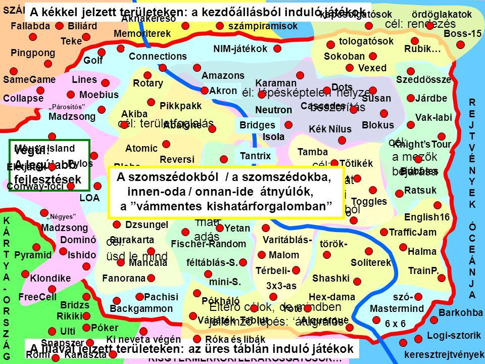 A kékkel jelzett területeken: a kezdőállásból induló játékok