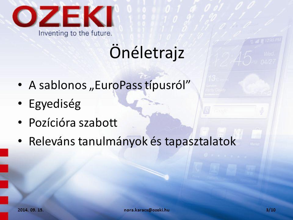 """Önéletrajz A sablonos """"EuroPass típusról Egyediség Pozícióra szabott"""