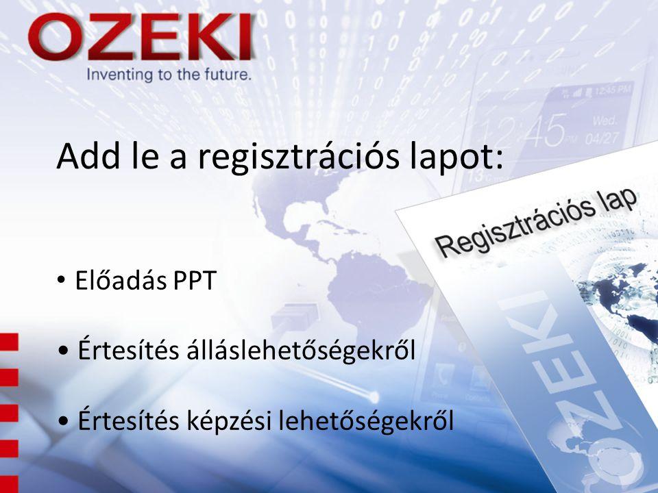 Add le a regisztrációs lapot: