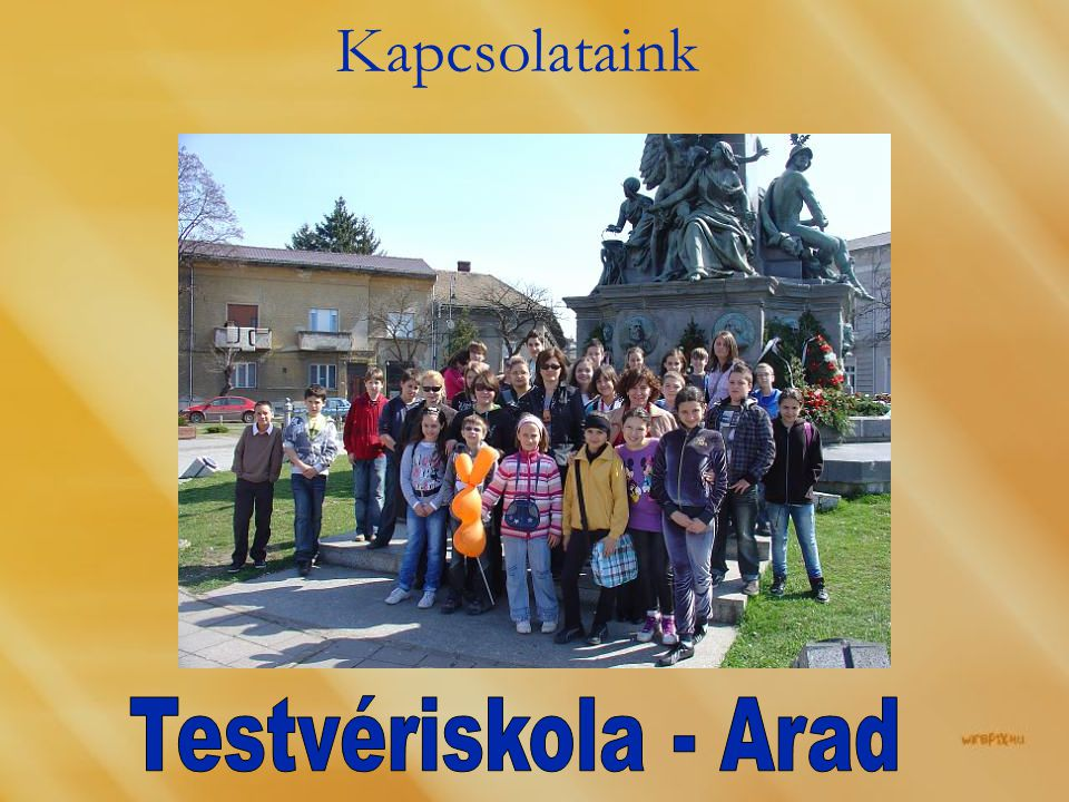 Kapcsolataink Testvériskola - Arad