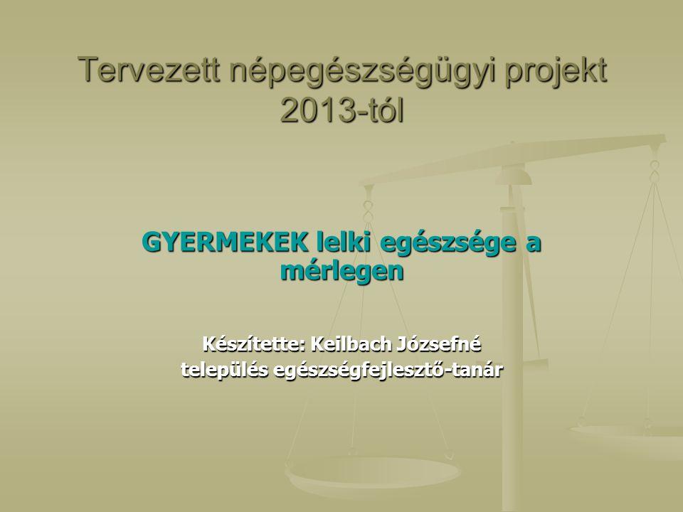 Tervezett népegészségügyi projekt 2013-tól