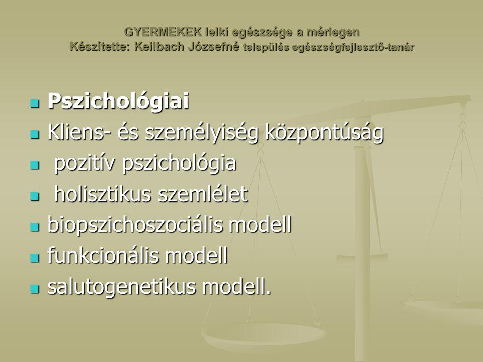Kliens- és személyiség központúság pozitív pszichológia