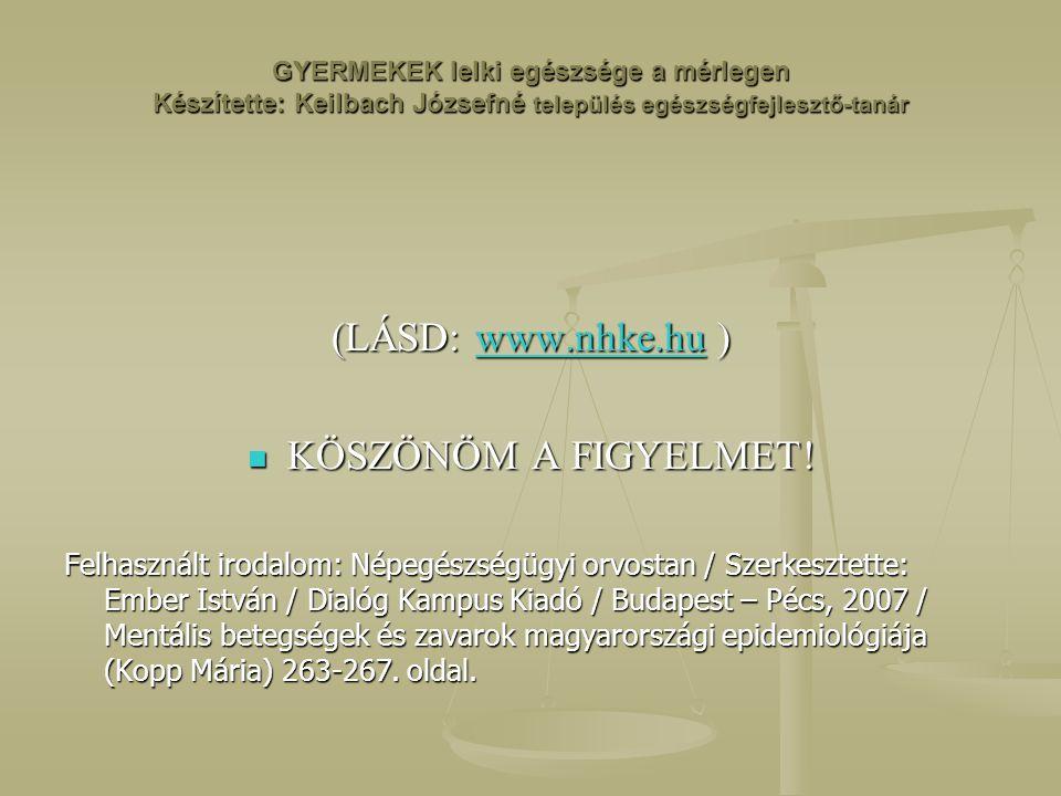 (LÁSD: www.nhke.hu ) KÖSZÖNÖM A FIGYELMET!