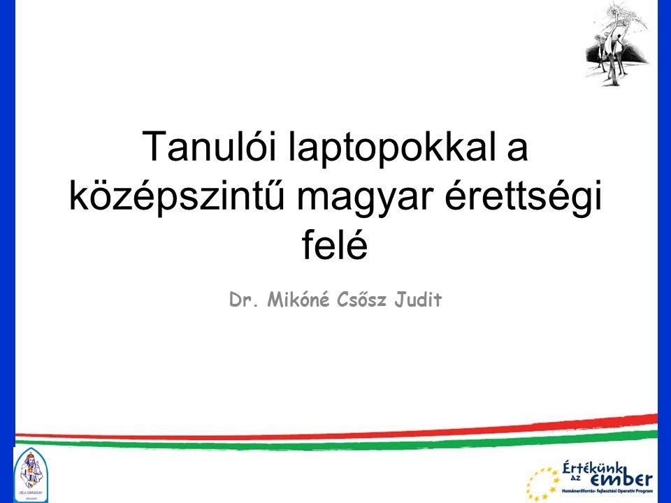Tanulói laptopokkal a középszintű magyar érettségi felé