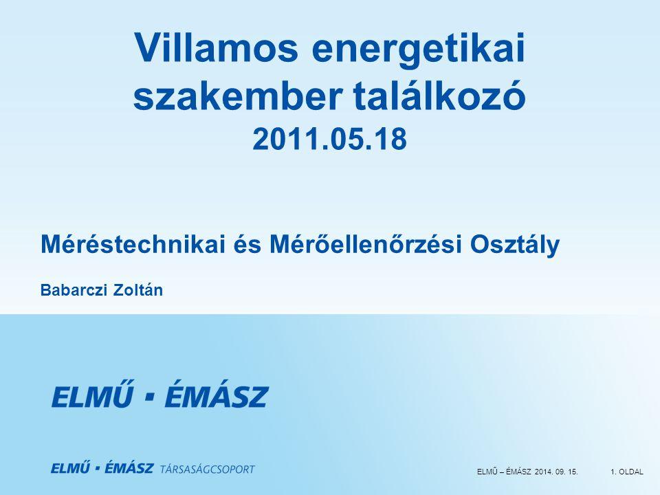 Villamos energetikai szakember találkozó 2011.05.18
