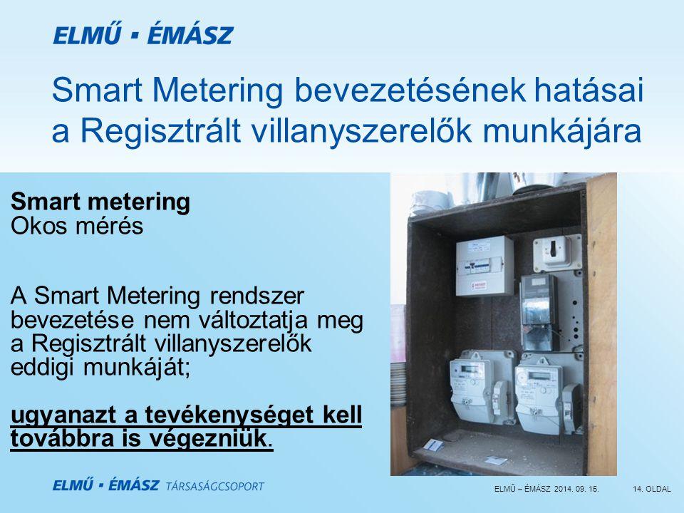 Smart Metering bevezetésének hatásai a Regisztrált villanyszerelők munkájára