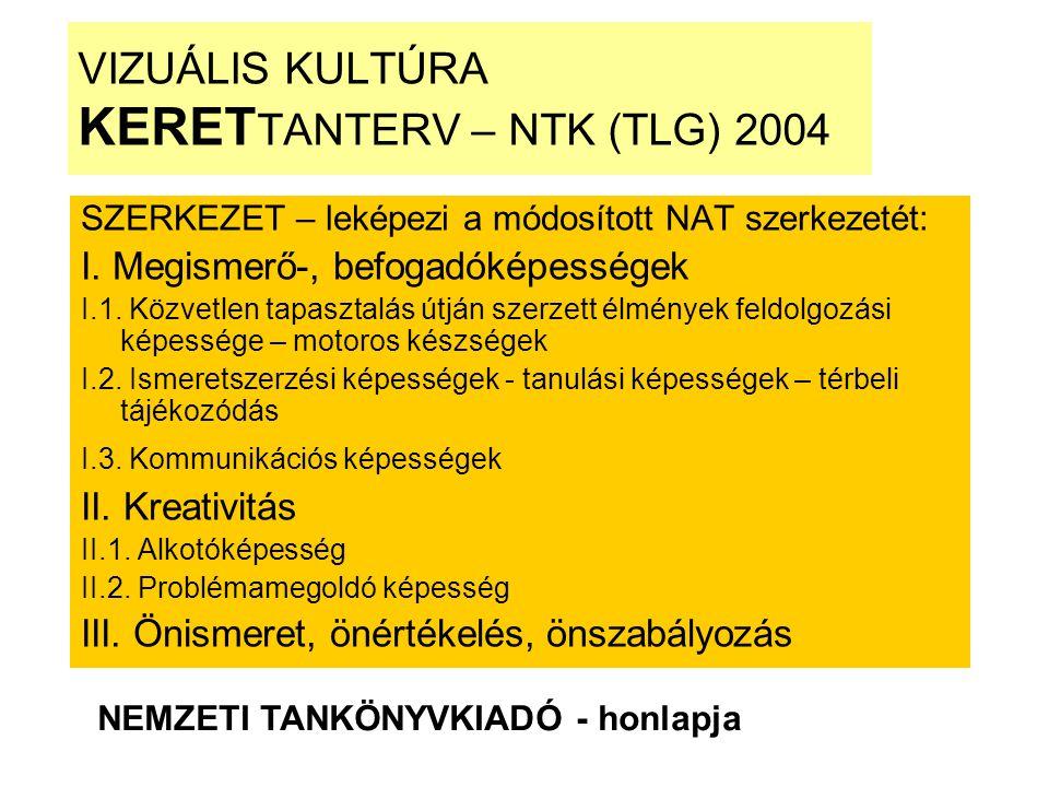 VIZUÁLIS KULTÚRA KERETTANTERV – NTK (TLG) 2004