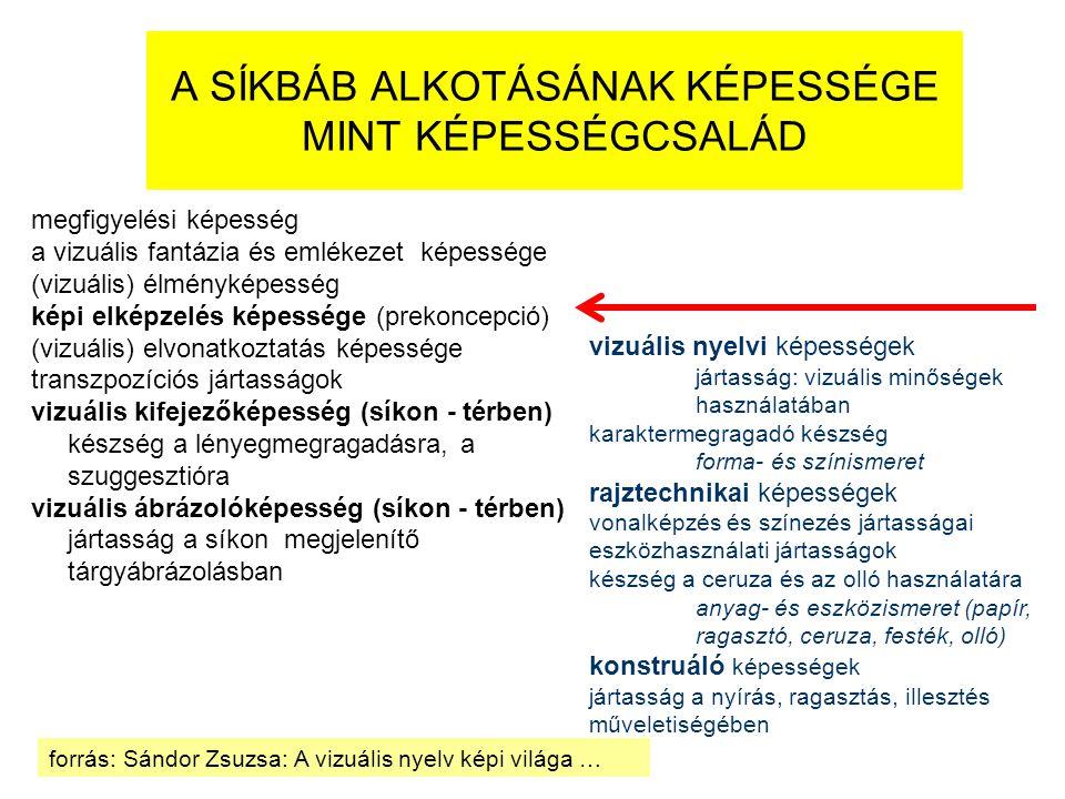A SÍKBÁB ALKOTÁSÁNAK KÉPESSÉGE MINT KÉPESSÉGCSALÁD