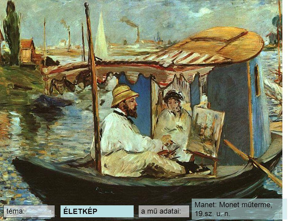 Manet: Monet műterme, 19.sz. u. n.