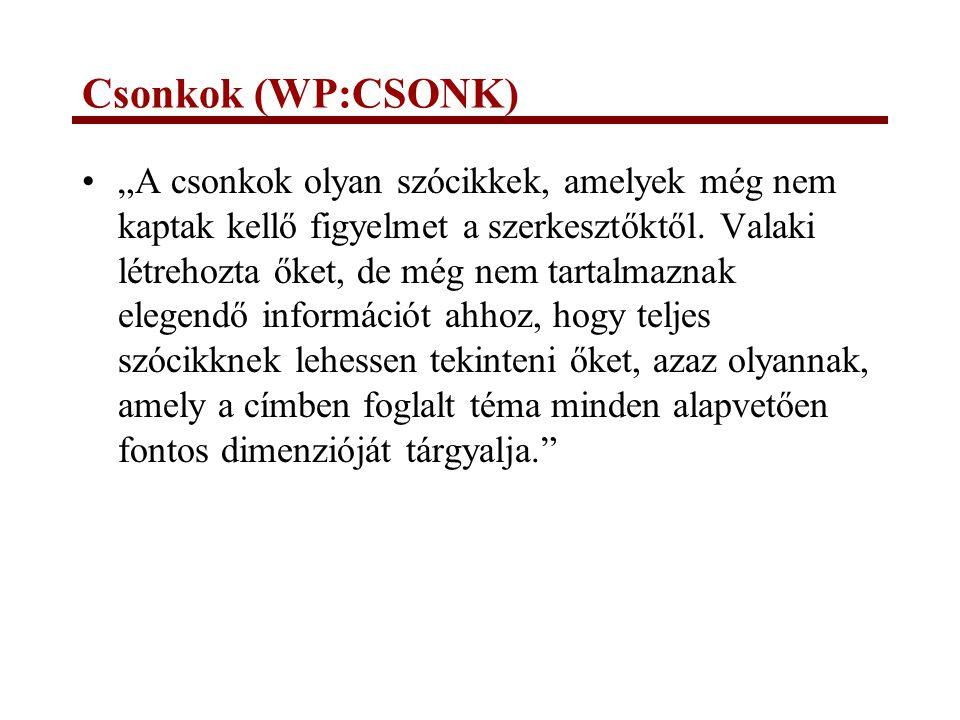Csonkok (WP:CSONK)