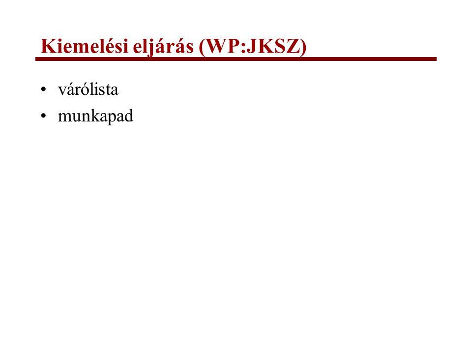 Kiemelési eljárás (WP:JKSZ)