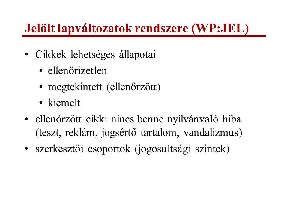 Jelölt lapváltozatok rendszere (WP:JEL)