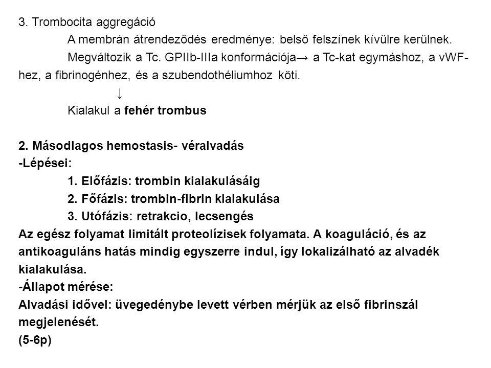 3. Trombocita aggregáció