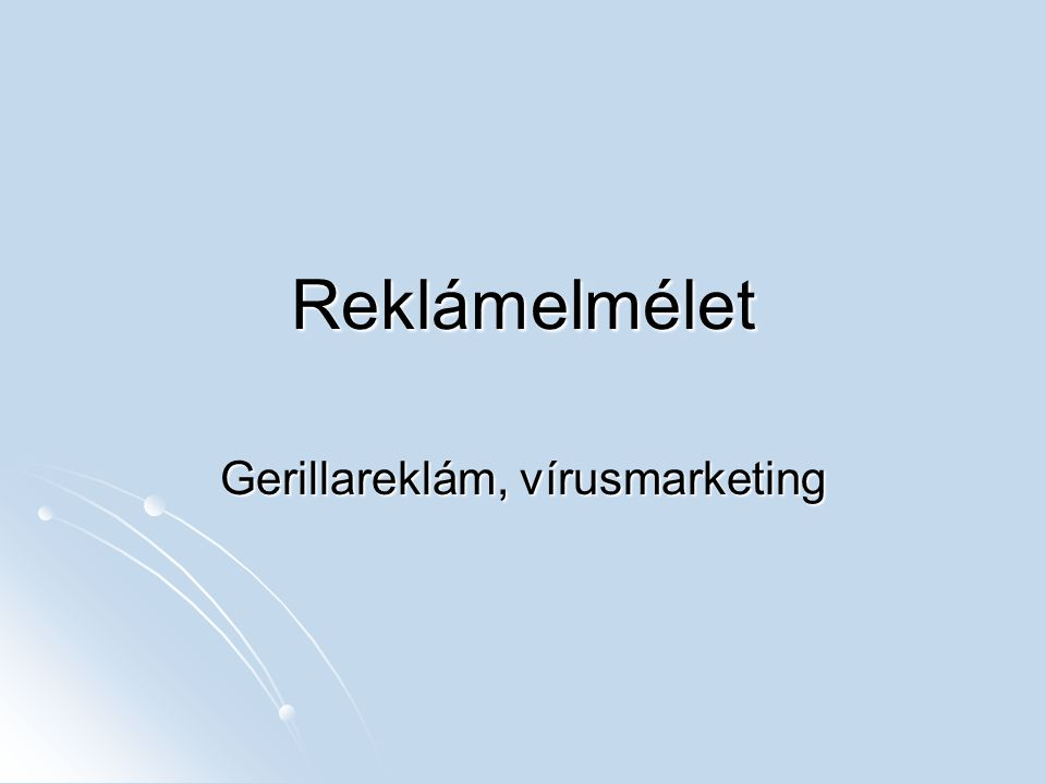 Gerillareklám, vírusmarketing