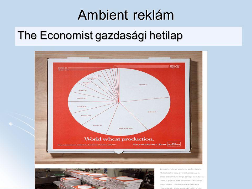 Ambient reklám The Economist gazdasági hetilap
