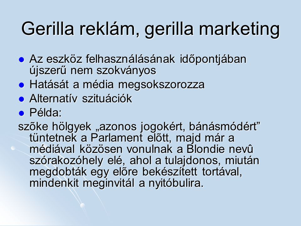 Gerilla reklám, gerilla marketing