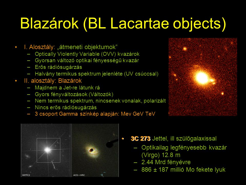 Blazárok (BL Lacartae objects)