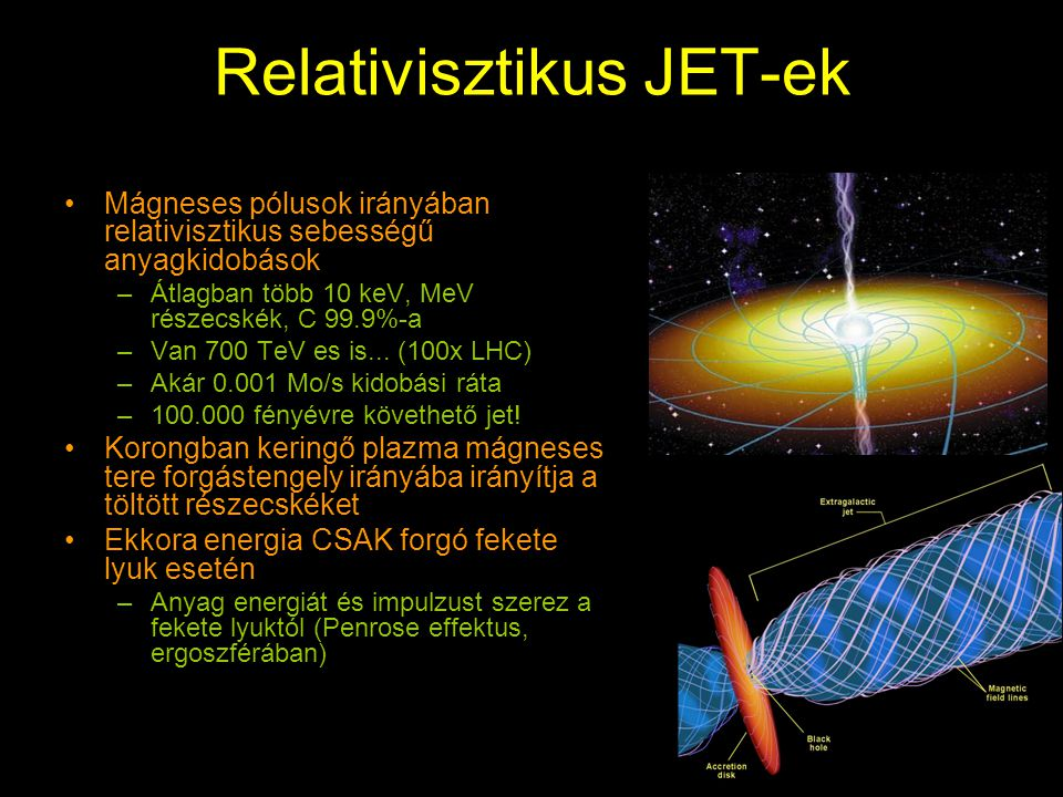 Relativisztikus JET-ek