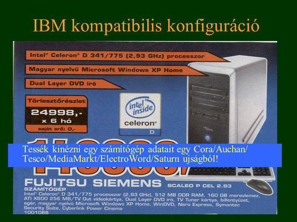 IBM kompatibilis konfiguráció
