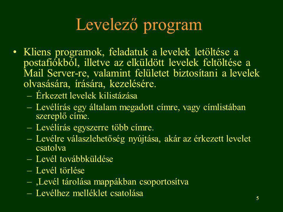 Levelező program
