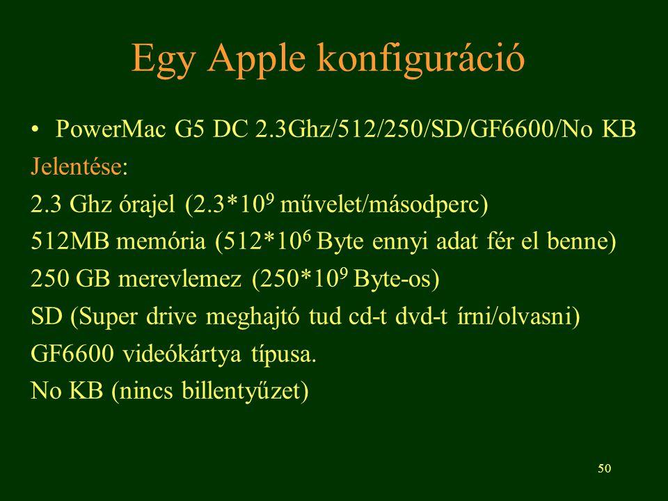 Egy Apple konfiguráció