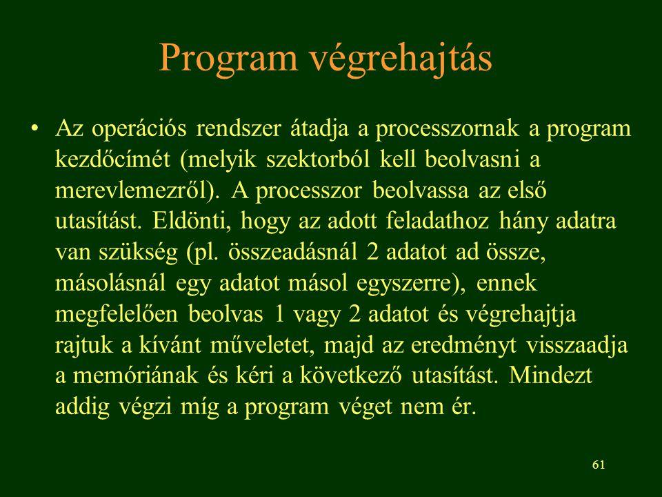 Program végrehajtás