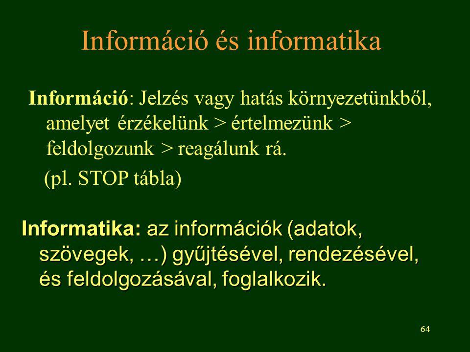 Információ és informatika