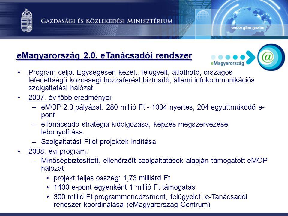 eMagyarország 2.0, eTanácsadói rendszer