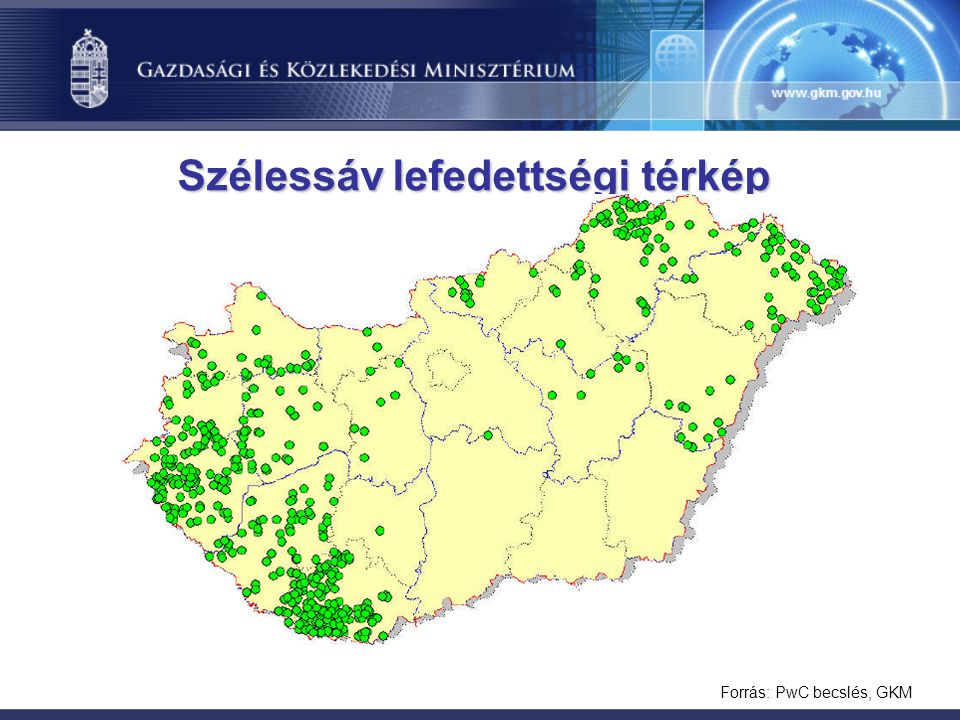 Szélessáv lefedettségi térkép