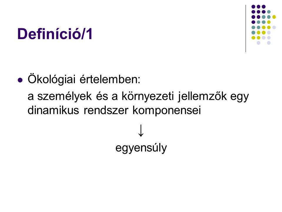 Definíció/1 ↓ Ökológiai értelemben: