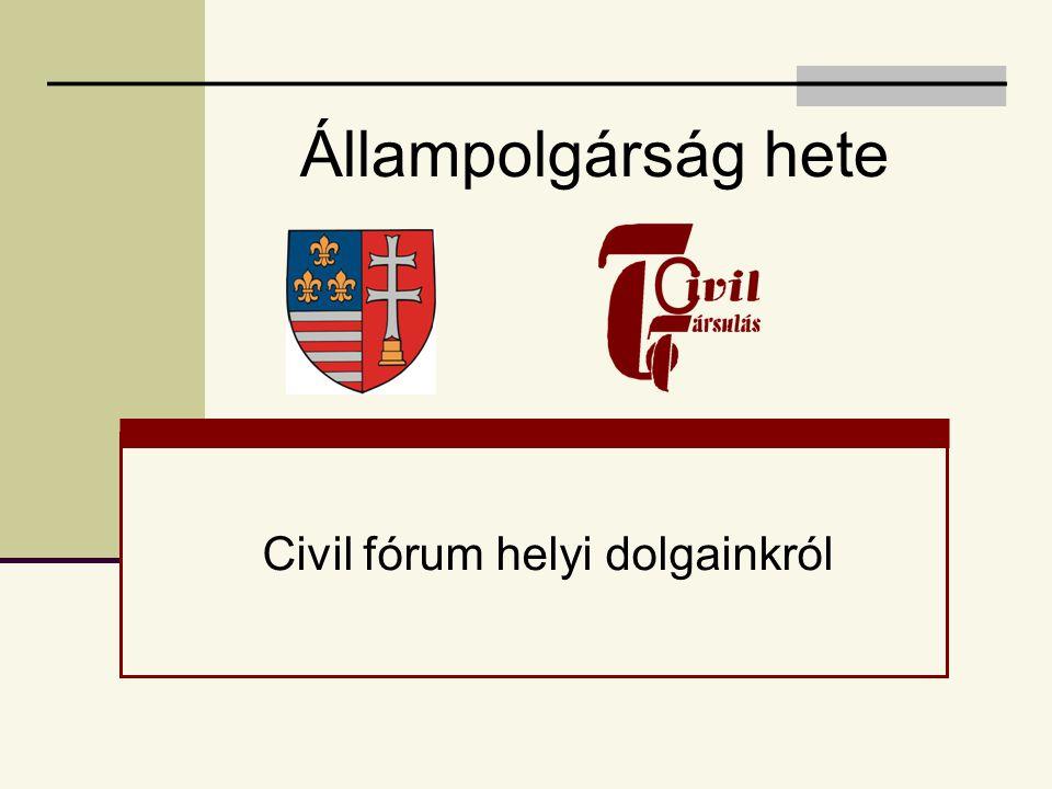 Civil fórum helyi dolgainkról
