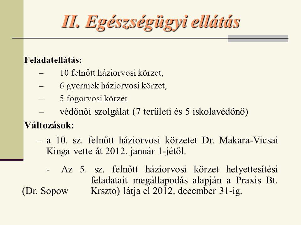 II. Egészségügyi ellátás