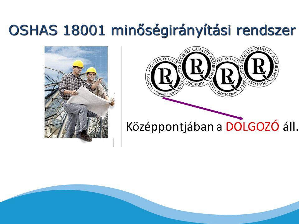 OSHAS 18001 minőségirányítási rendszer