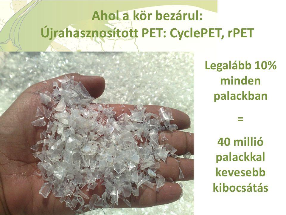Ahol a kör bezárul: Újrahasznosított PET: CyclePET, rPET