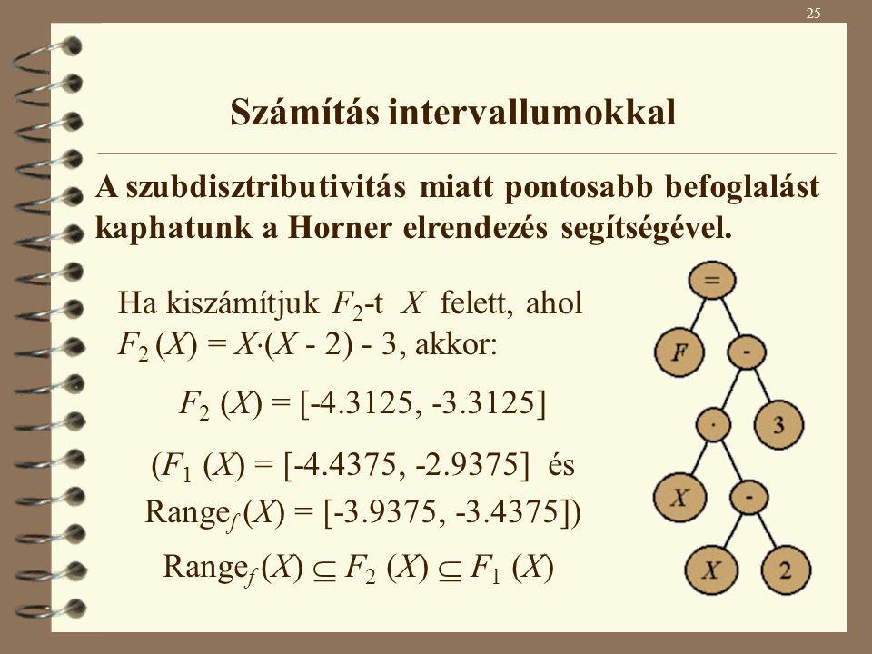 Számítás intervallumokkal