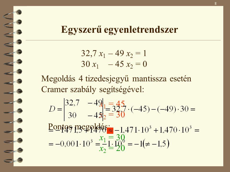 Egyszerű egyenletrendszer