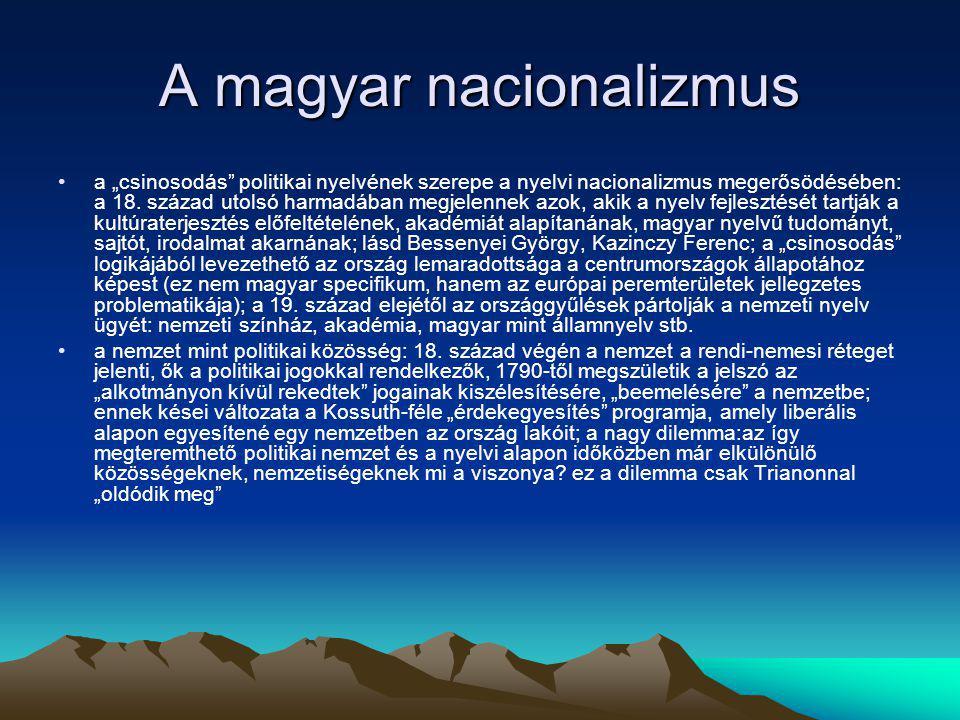 A magyar nacionalizmus