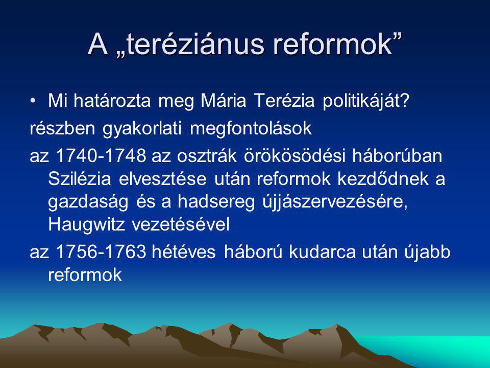 """A """"teréziánus reformok"""