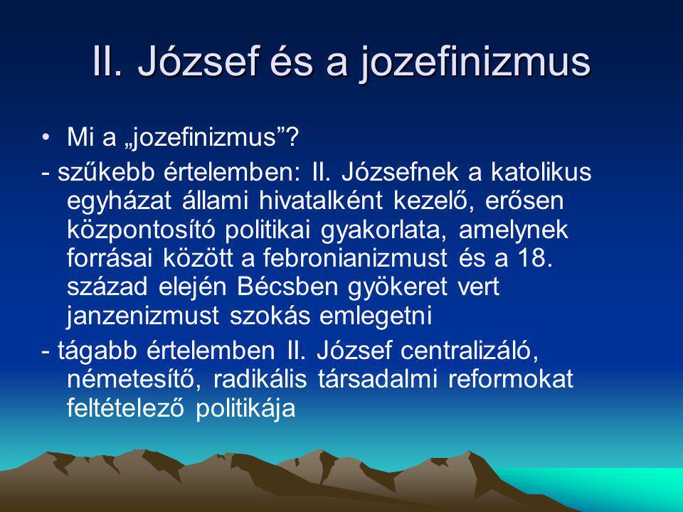 II. József és a jozefinizmus
