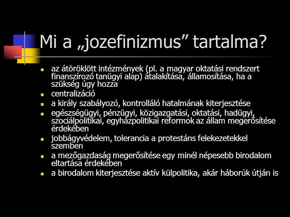 "Mi a ""jozefinizmus tartalma"