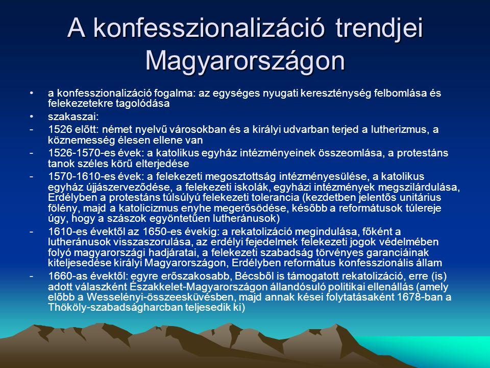 A konfesszionalizáció trendjei Magyarországon