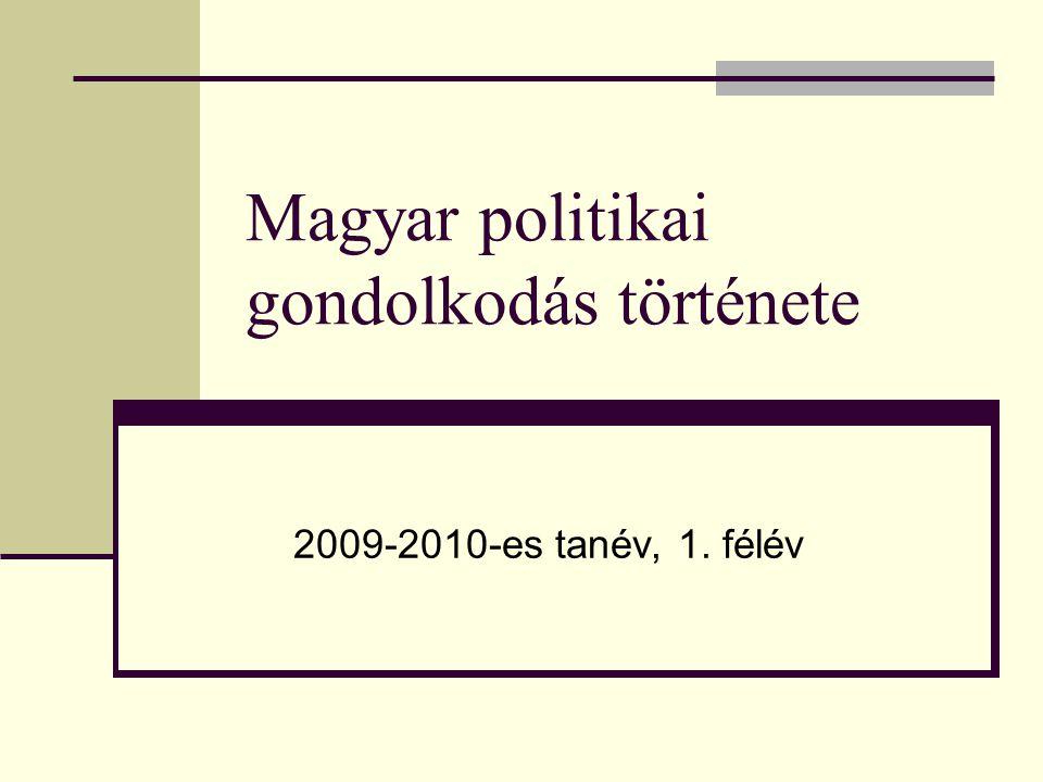 Magyar politikai gondolkodás története