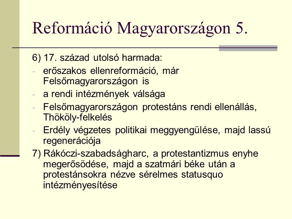 Reformáció Magyarországon 5.