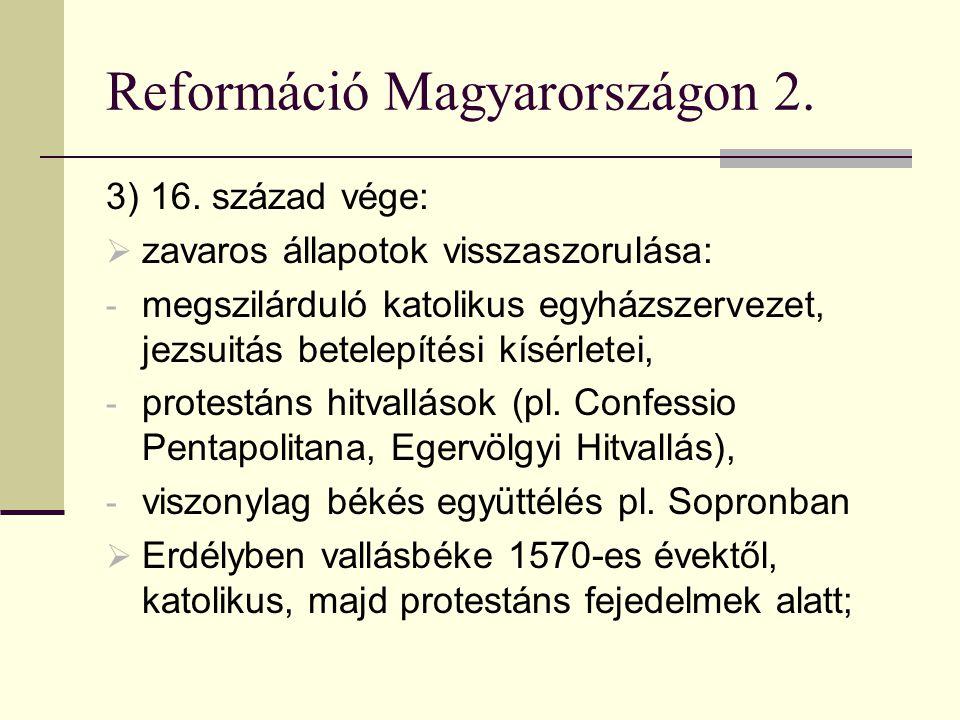 Reformáció Magyarországon 2.