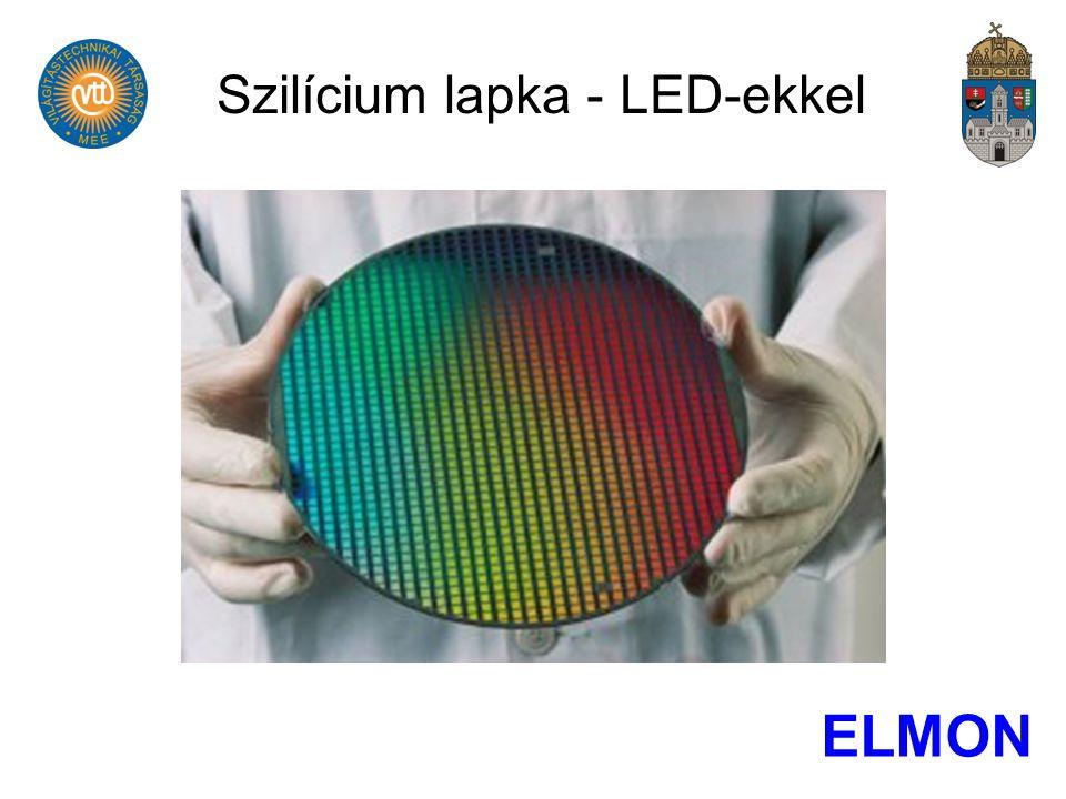 Szilícium lapka - LED-ekkel