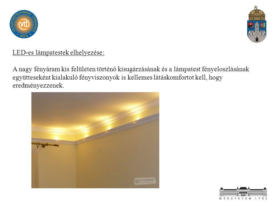 LED-es lámpatestek elhelyezése: