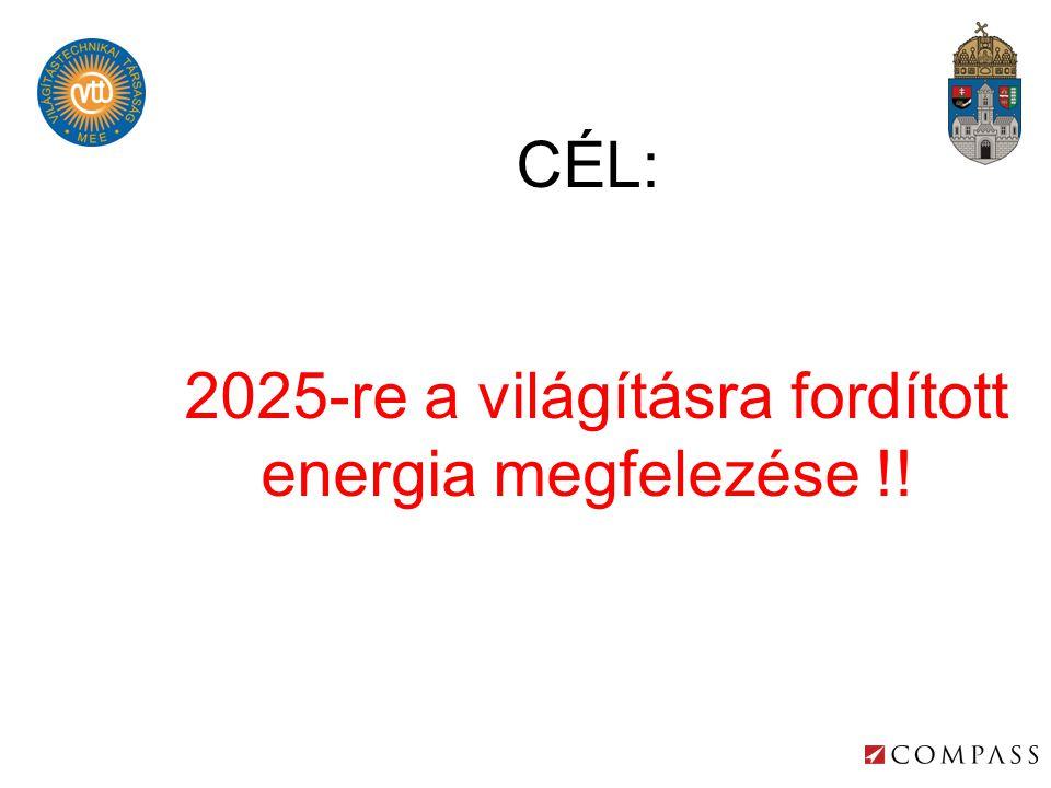 2025-re a világításra fordított energia megfelezése !!