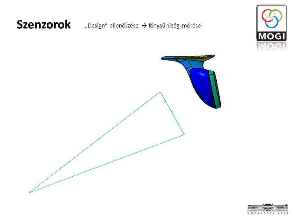 """Szenzorok """"Design ellenőrzése → fénysűrűség mérése!"""