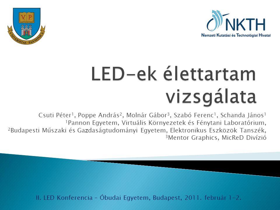 LED-ek élettartam vizsgálata
