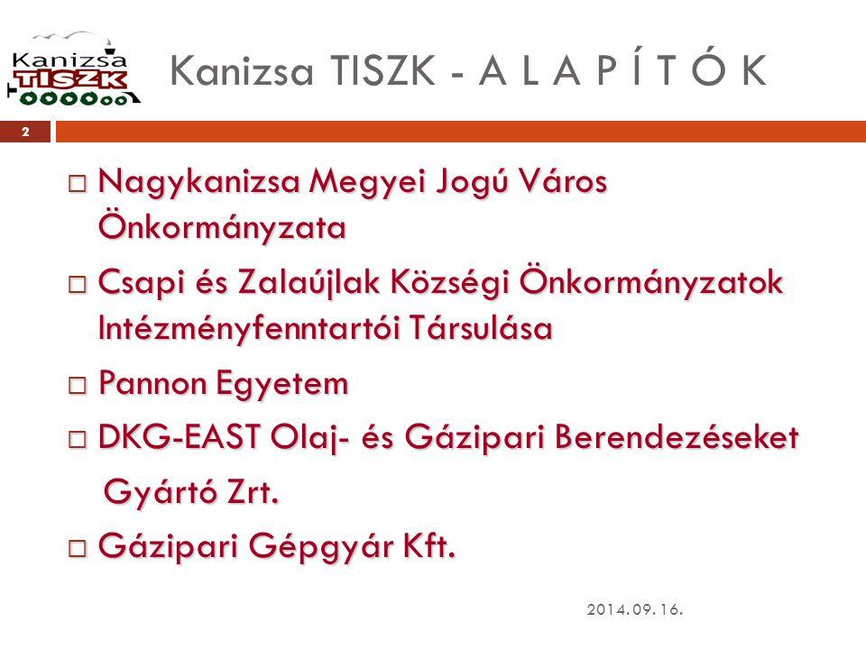 Kanizsa TISZK - A L A P Í T Ó K
